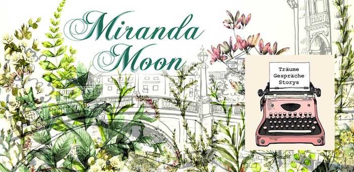 Gezeichnetes Bild von Berlin mit zeichnungen von bunten Pflanzen und Bild von einer rosa Vintage Schreibmaschine